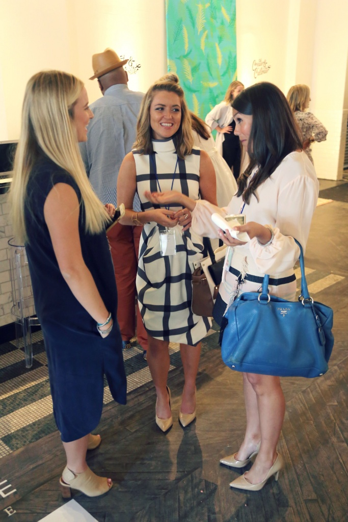 Chatting with two awesome conference goers after my panel. Xx