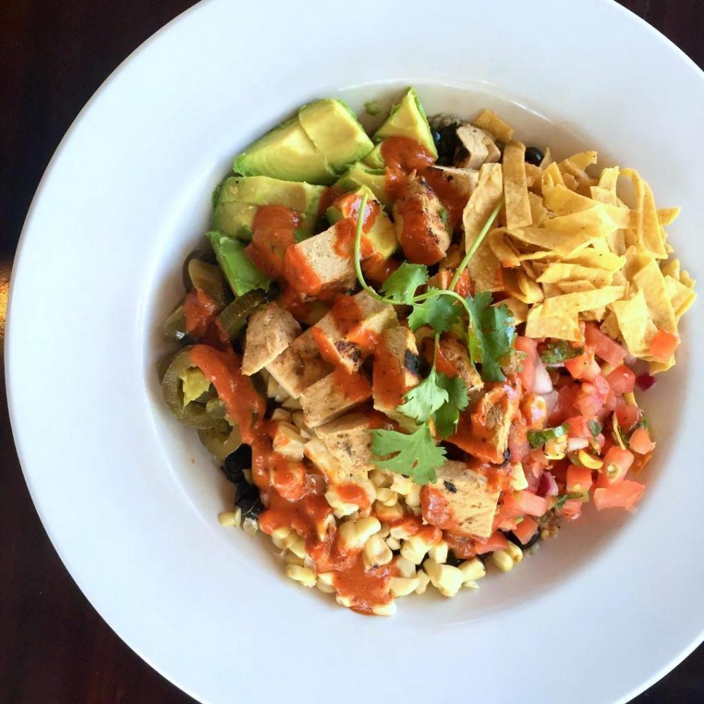 Sonoran Summer Salad with Blackened Chickin', a.k.a Greg's favorite menu item